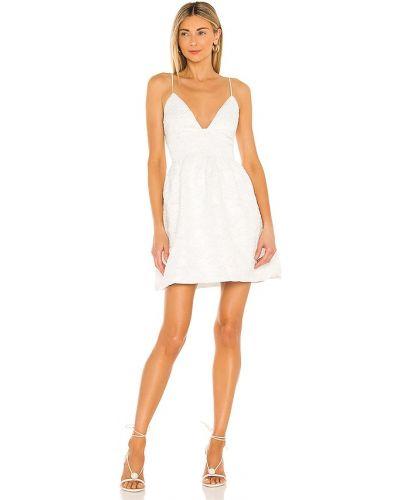 Платье мини айвори жаккардовое на молнии Bardot