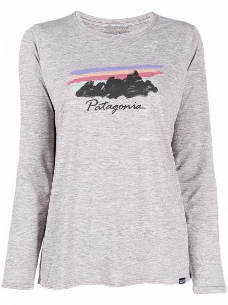 Лонгслив с принтом - серая Patagonia