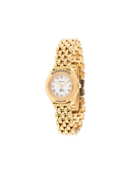 Золотистые часы золотые позолоченные Burberry Pre-owned