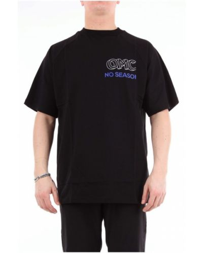Czarny t-shirt krótki rękaw Omc