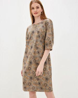 Платье серое прямое Gabriela