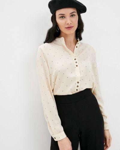 Бежевая блузка с длинными рукавами Ichi