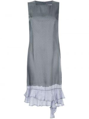 Платье в горошек - серое Comme Des Garçons