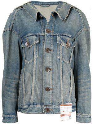 Синяя джинсовая джинсовая куртка Maison Mihara Yasuhiro