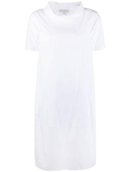 Белое платье мини трапеция с воротником Antonelli