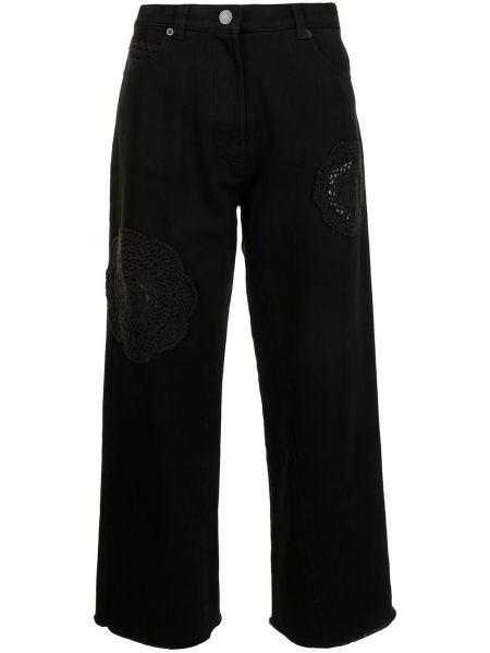 С завышенной талией черные джинсы свободного кроя Goen.j