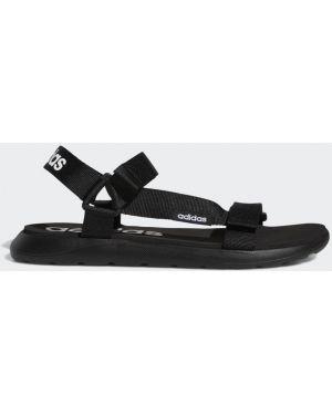Спортивные черные сандалии Adidas