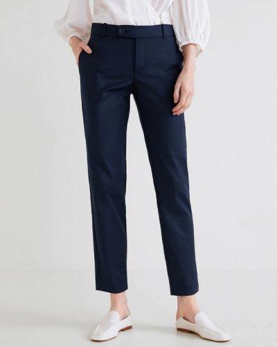 Синие брюки прямые Mango