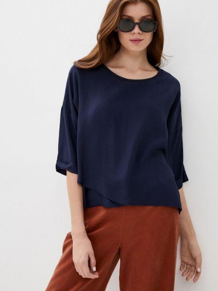 Блузка с длинным рукавом синяя весенний Baon