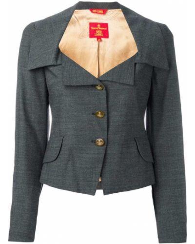 Прямой удлиненный пиджак на пуговицах винтажный Vivienne Westwood Pre-owned