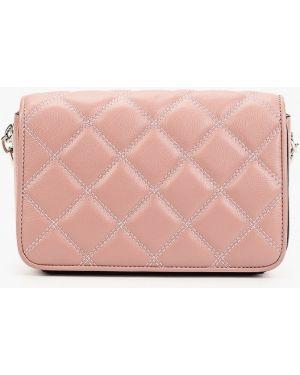 Кожаная сумка через плечо розовый Labbra