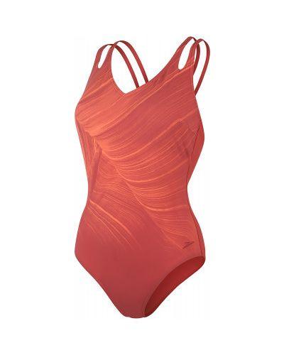 Нейлоновый моделирующий оранжевый купальник Speedo