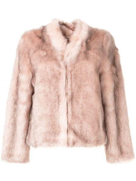 Розовая короткая куртка Unreal Fur