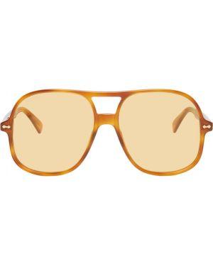 Okulary przeciwsłoneczne żółty szkło Gucci