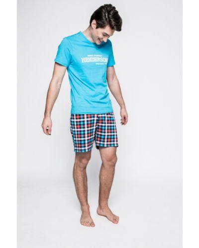 Пижама с принтом синий Henderson