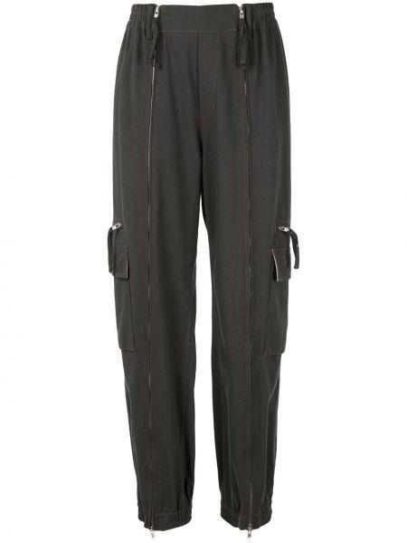 Серые свободные брюки с карманами свободного кроя на молнии G.v.g.v.