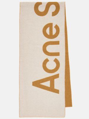 Белый шерстяной шарф Acne Studios