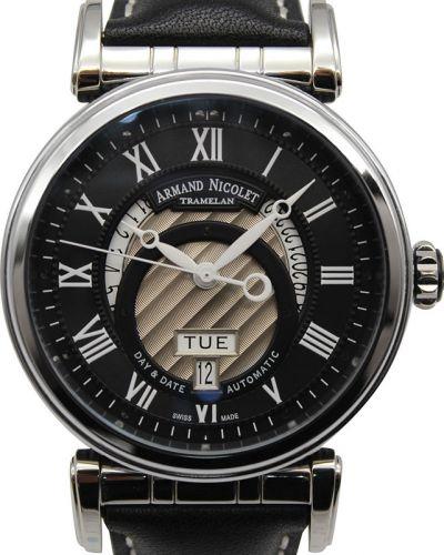 Часы механические водонепроницаемые с кожаным ремешком Armand Nicolet