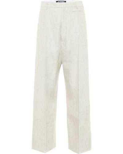 Beżowy spodnie z wiskozy Jacquemus