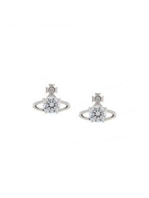 Серебряные серьги-гвоздики с бабочкой Vivienne Westwood