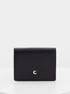 Черный кожаный кошелек Coccinelle