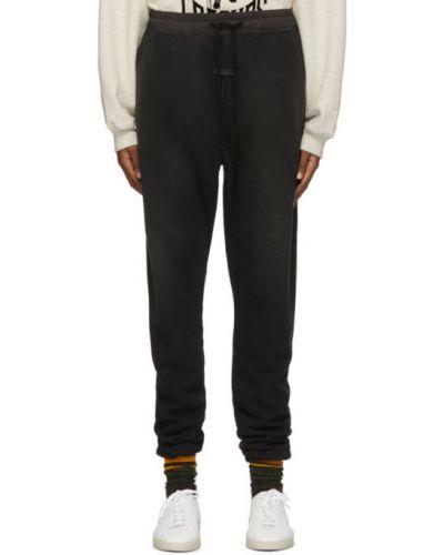 Czarny spodnie z kieszeniami z mankietami z łatami Fear Of God