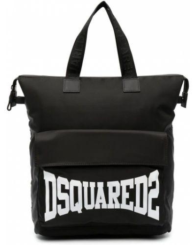 Нейлоновая черная косметичка с карманами Dsquared2 Kids