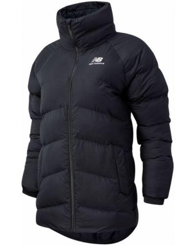 Черная утепленная пуховая длинная куртка New Balance