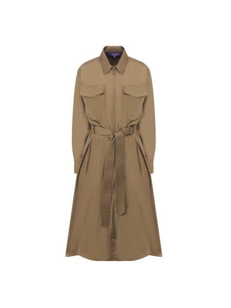 Платье с поясом платье-рубашка шелковое Ralph Lauren