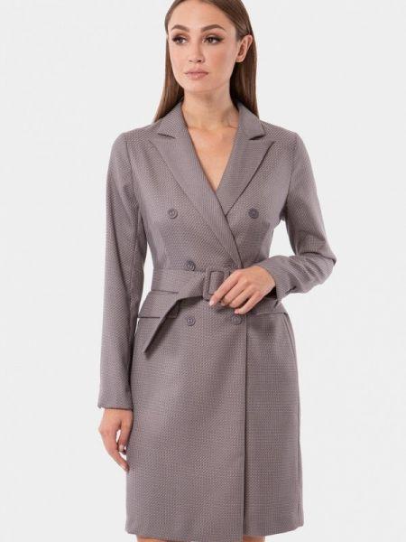 Платье серое платье-пиджак Vladi Collection