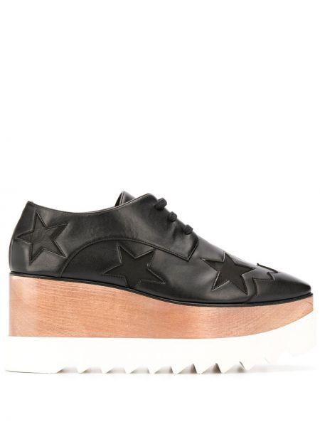 Buty brogsy skórzany na platformie Stella Mccartney