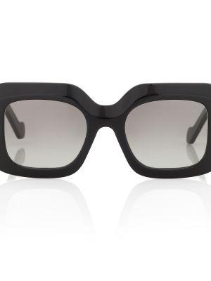 Муслиновые черные солнцезащитные очки квадратные Loewe