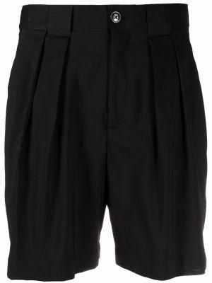 Шерстяные черные шорты с карманами Closed