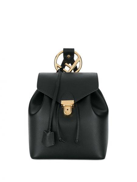 Skórzany plecak czarny klasyczny Fendi