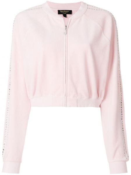 Велюровая розовая спортивный топ в рубчик Juicy Couture