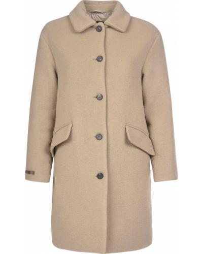 Шерстяное пальто - бежевое Peruffo