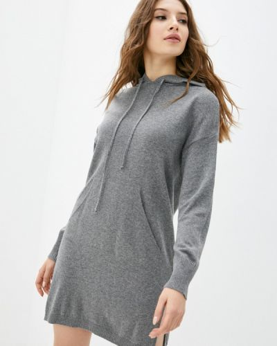 Трикотажное вязаное серое платье Rinascimento