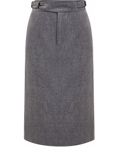 Шерстяная юбка миди - серая Lorena Antoniazzi