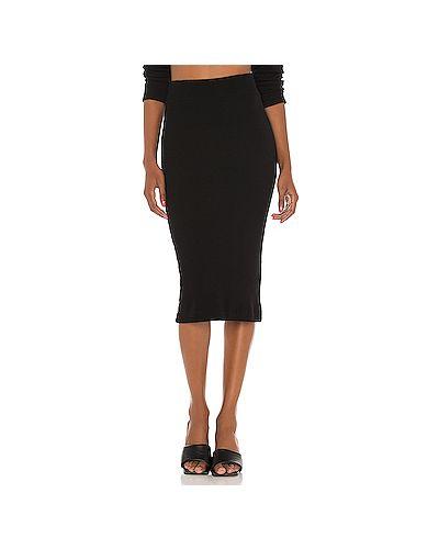 Черная юбка в рубчик из вискозы Enza Costa