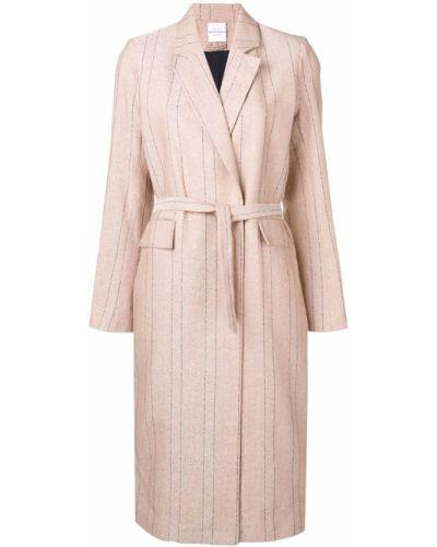 Розовое длинное пальто с капюшоном Roseanna