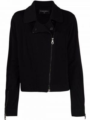 Черная шерстяная куртка Chanel Pre-owned