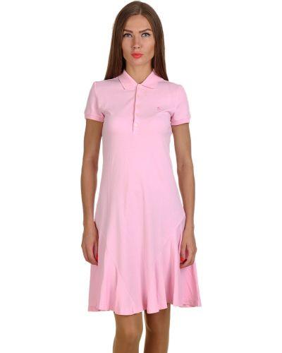Хлопковое платье - розовое Ralph Lauren
