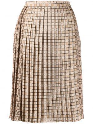 Prążkowana spódnica midi Burberry