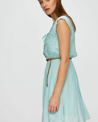 Платье мини с вырезом на пуговицах мятное Fresh Made