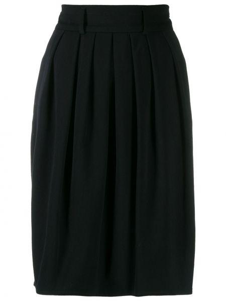 Черная плиссированная юбка Jil Sander Pre-owned