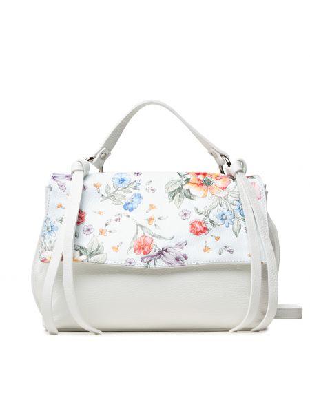Biała torebka w kwiaty Creole
