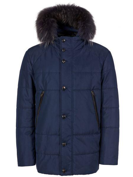 Куртка с мехом - синяя Gallotti