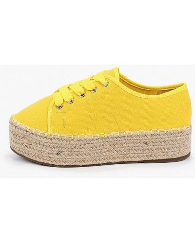 Текстильные желтые ботинки Vera Blum