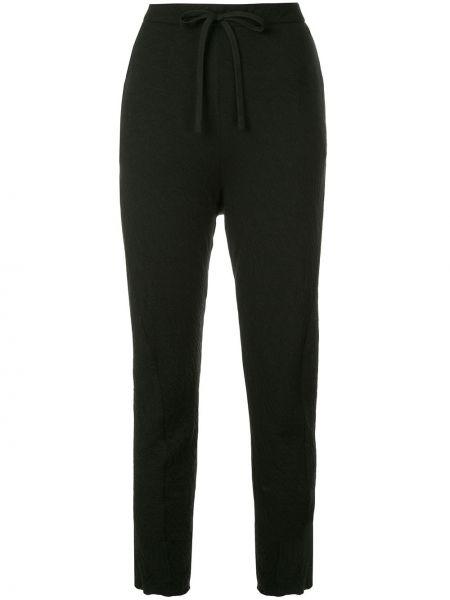 Черные брюки с манжетами Forme D'expression