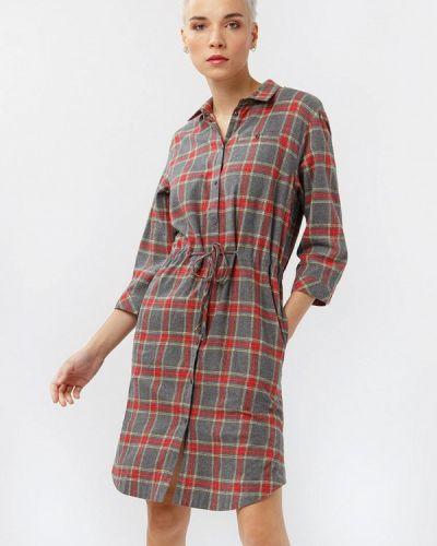 Платье серое платье-рубашка Finn Flare